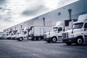 Trucking fleet getting loads to haul